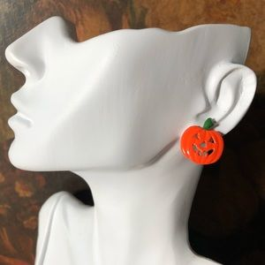 🔥 Vintage Halloween Jack O Lantern Earrings